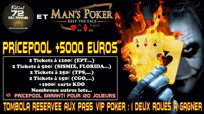 Poker en juillet 2021 lors du Festival 72 du Mans.
